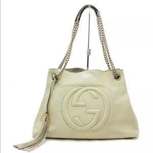 Gucci soho cream leather shoulder bag